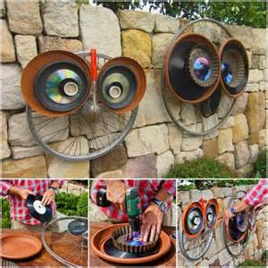 This is another cute idea of turning the recycled wheel into fantastic