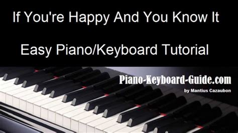 youtube pattern piano and keyboard if you re happy and you know it easy piano keyboard