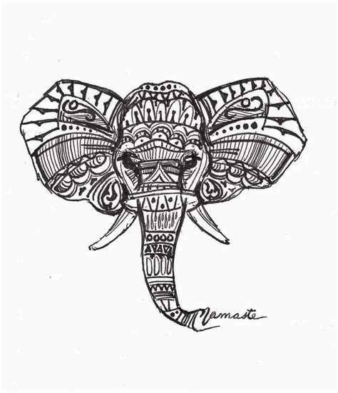 geometric elephant coloring pages art thinglink