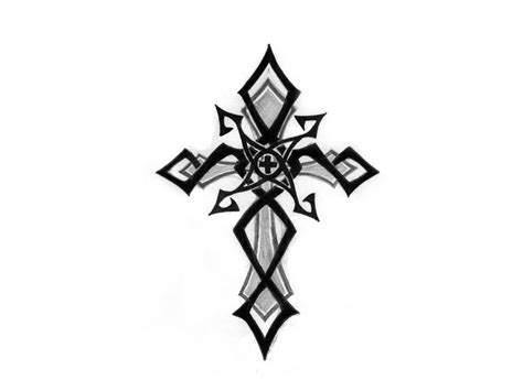 cross tattoos with tribal designs cross images designs