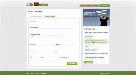 website templates for job site job website template free job portal templates phpjabbers