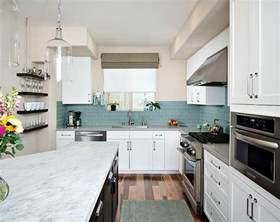Blue Backsplash Kitchen by Kitchen Backsplash Ideas A Splattering Of The Most
