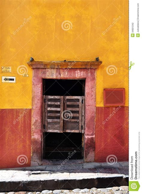 Brick Colonial House Front Of An Old Mexican Cantina Bar Stock Photo Image