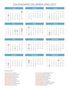 Calendario De Festivos Calendario Colombia A 241 O 2017 Feriados
