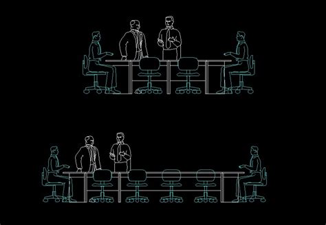 people sitting  meeting table human figure front view