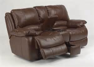 power recliner loveseat with console flexsteel leather power reclining loveseat with console