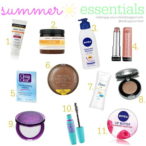 4 Posts With Summer Essentials by Makeup Your Mind 2014 Summer Essentials
