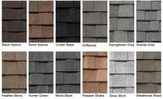 landmark shingles colors certainteed landmark shingle color chart