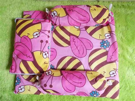 Baling Bantal Guling Bayi Grosir 4 paling murah kasur bayi plus bantal dan dua guling motif lebah pink baju bayi celana bayi