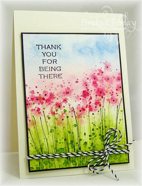 how to make watercolor greeting cards bridget s paper blessings watercolor meadow