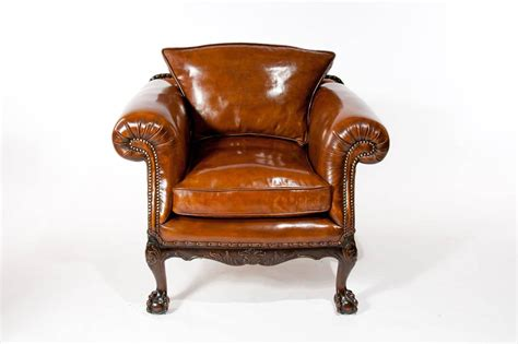 Antique Leather Armchairs by Wonderful Pair Of Antique Leather Armchairs At 1stdibs
