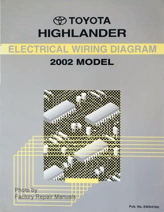 electric and cars manual 2002 toyota highlander navigation system 2002 toyota highlander electrical wiring diagrams original factory manual factory repair manuals