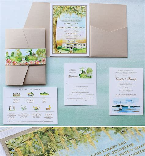 painted watercolor wedding invitations watercolor venue illustration wedding invitation