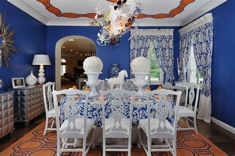orange and blue room 25 trendy dining rooms with spunky orange