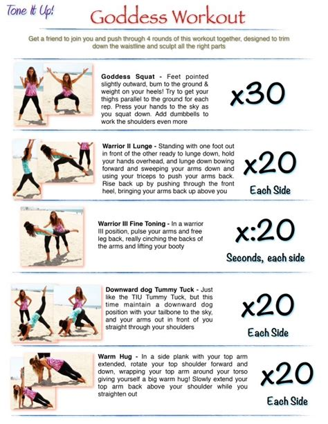 best home workout program it s your toning routine your goddess workout