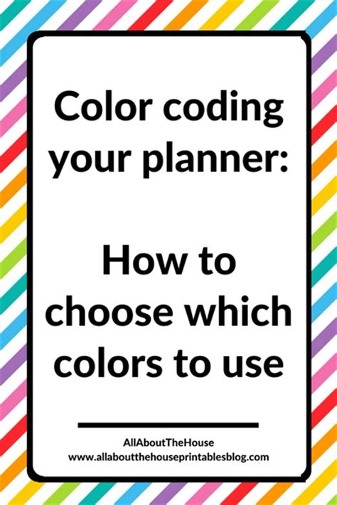 how to choose colors color coding your planner how to choose which colors to use