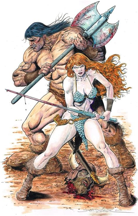what does sonja do conan and sonja by skeel76 on deviantart