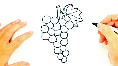 imagenes de unas uvas para dibujar c 243 mo dibujar un racimo de uvas paso a paso dibujo f 225 cil