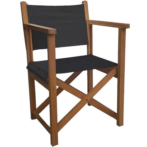 sillas teka silla quot director quot con brazos plegable y reforzada teca