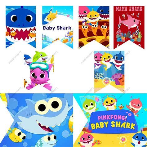 Banner Flag Animal Ulang Tahun sticker baby shark bahuma sticker