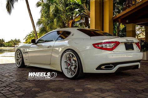 maserati forgiato maserati gran turismo forgiato wheels tuning white