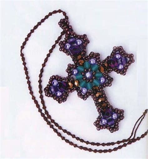 beaded cross pattern jewelry