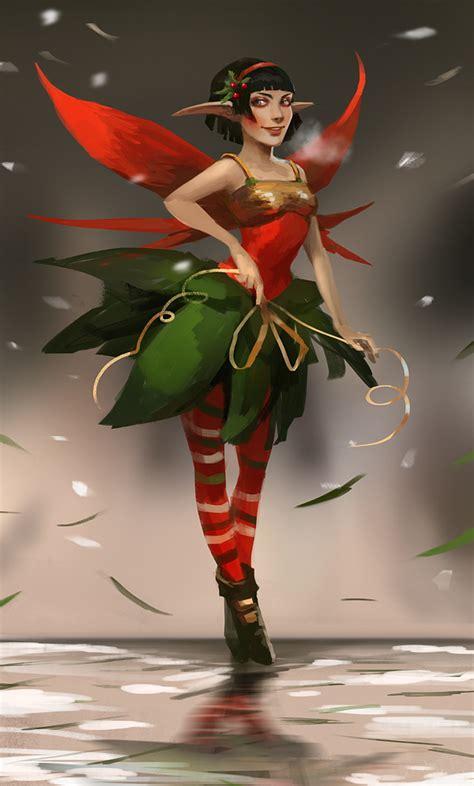 christmas elf by telthona on deviantart