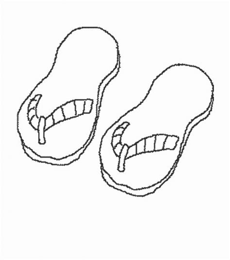 12 coloring pages of flip flop print color craft