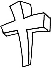 cross coloring pages printable cross pictures clipart best