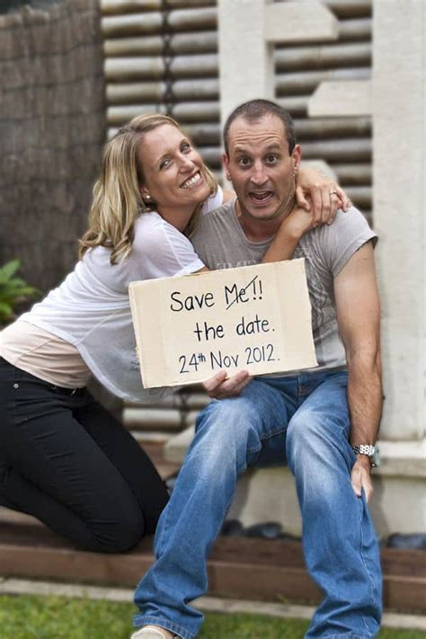 14 Unique And Funny Save The Date Photo Ideas Cute