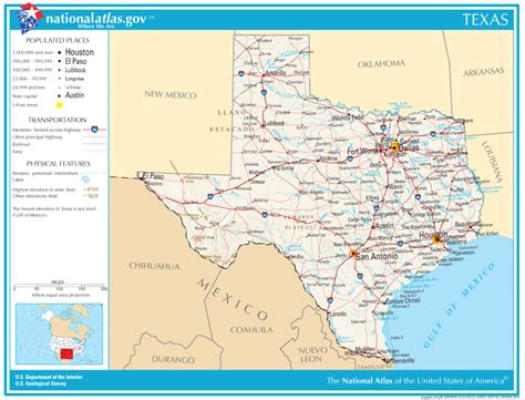 map of texas state texas states map