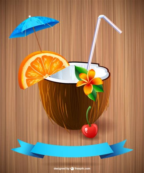 cocktail icon vector summer cocktail vector vector free download