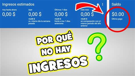 adsense no data available youtube por qu 233 no aparecen mis ingresos en google adsense
