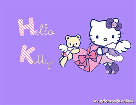 hello kitty wallpaper color violet hello kitty purple wallpaper by princesslikealove on