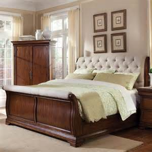 Fabric Sleigh Bed Furniture Margaux Fabric Sleigh Bed 166125 2630cb Traditional Bedroom Furniture Sets