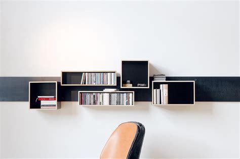 stuhl leder magnetique shelves from moormann architonic