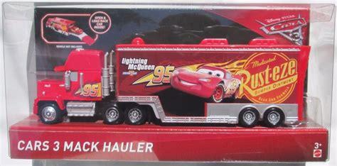 Disney Pixar Cars 3 Travel Time Mack Transporter Playset Dxy87 disney pixar cars 3 mack hauler in ready to ship ebay