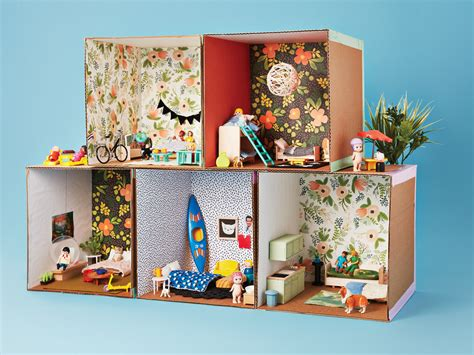 how to make doll house furniture how to make a cardboard dollhouse