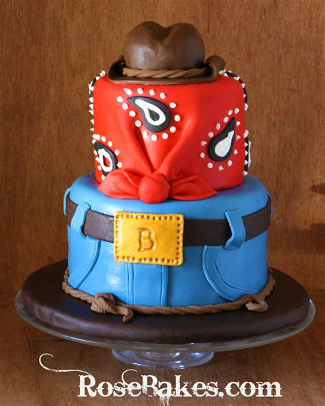 How To Start A Home Decor Line Cowboy Western Birthday Cake With Jeans Bandana And