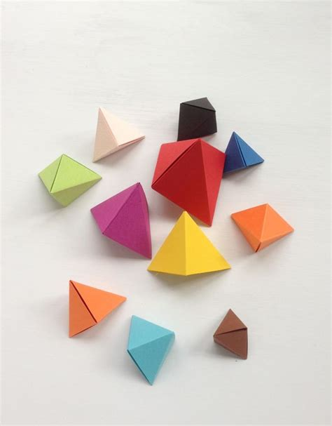 origami geometric tutorial diy origami bipyramid what to do with them craft