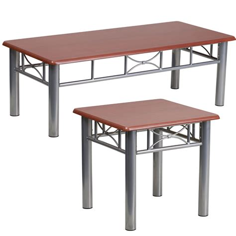 mahogany coffee and end table set jb 5 gg by flash