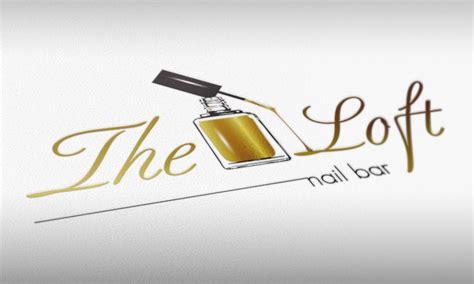 loft nail bar logo design nail logo beauty salon