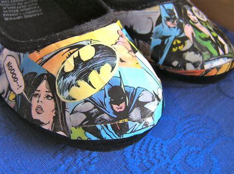 Comic Decoupage Paper - batman comic shoes 183 a pair of decoupage shoes 183 decoupage