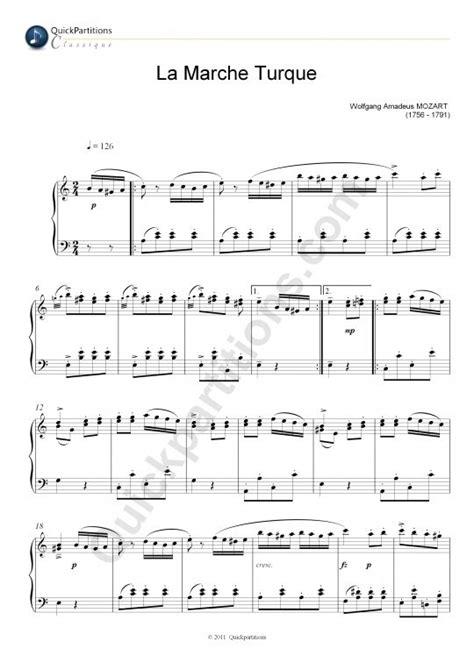 tutorial piano mozart partition piano la marche turque wolfgang amadeus mozart