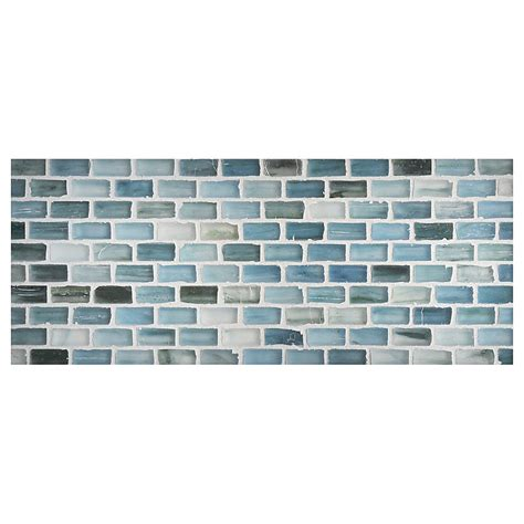 Zumi glass tile 1 2 quot x 1 quot mini brick mosaic sea spruce silk