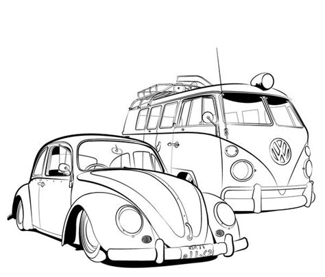 volkswagen car coloring page 3854 best images about old school vw s on pinterest vw