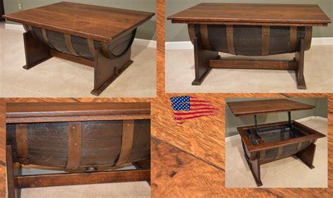 amish whiskey barrel table amish solid wood furniture jasens furniture