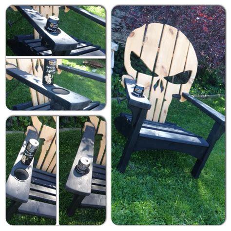 wooden skull lawn chair plans adirondack muskoka chairs punisher marvel woodworking