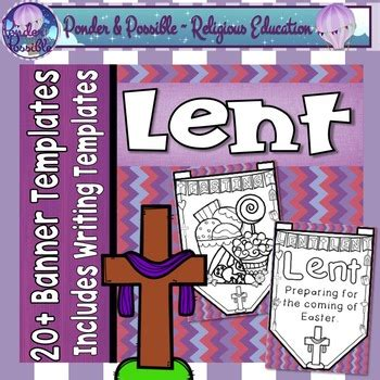 lenten promise card template lent banner templates by ponder and possible teachers