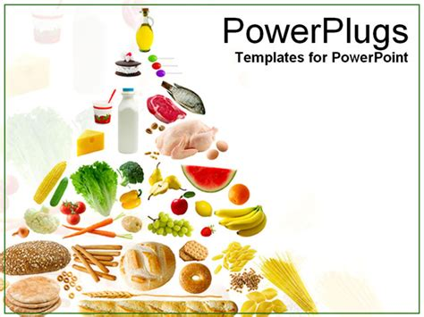 free food powerpoint template foods a pyramid powerpoint template background of
